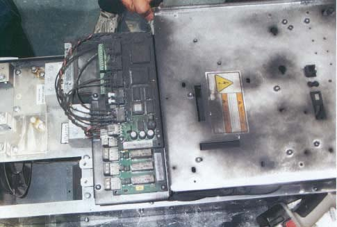 Photo 1, Fan Injecting Dust into Drive Enclosure