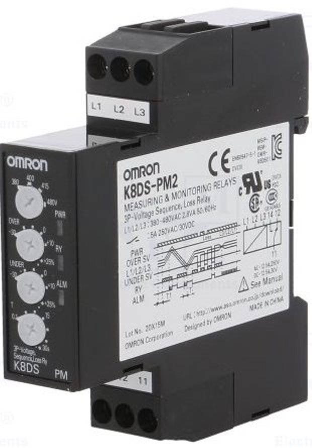 OMRON K8DS-PM2 Measuring & Monitoring Relay