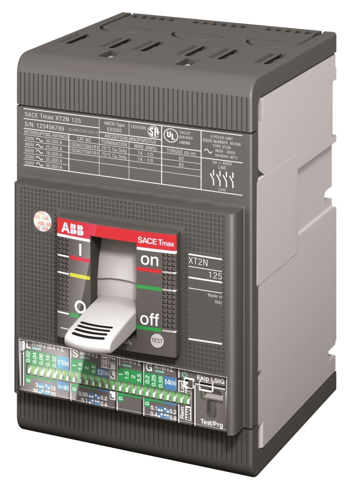 ABB SACE TMAX XT Molded Case Circuit Breakers