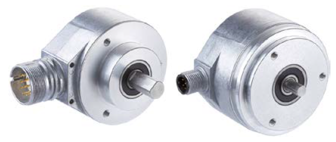 Left: Face mount flange; Right: Servo flange.